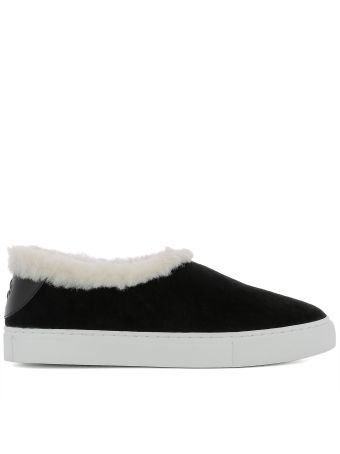 Black Suede Slip On