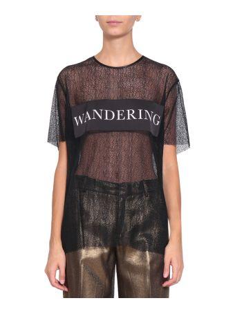 WANDERING Laced Logo T-shirt