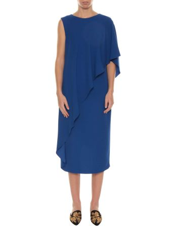 Alberta Ferretti Cape Dress