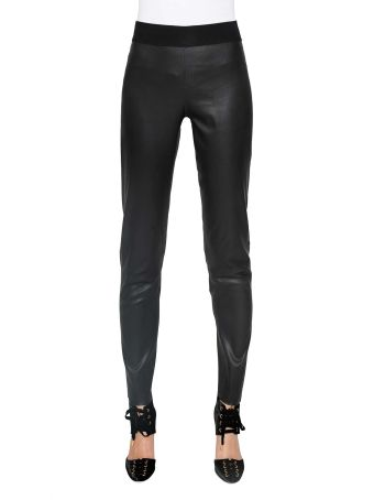 Parosh Leather Trousers