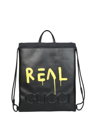 Gucci Gucci Ghost Drawstring Backpack