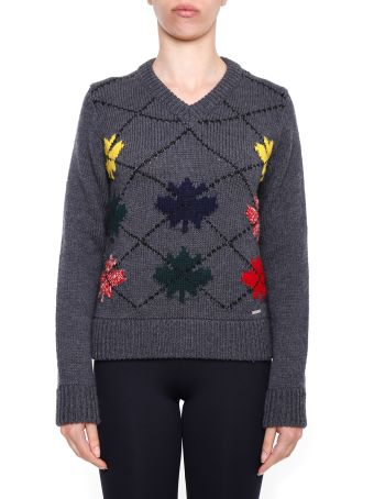 Intarsia Wool Pullover