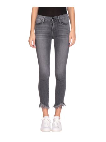 Frame Le High Cotton Denim Skinny Jeans