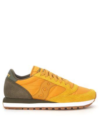Sneaker Saucony Jazz In Golden Yellow Suede And Nylon