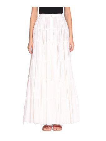 WANDERING Cotton And Linen Skirt