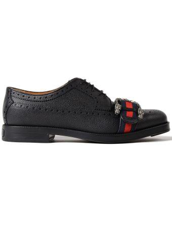 Gucci Martins Nylon Ciran Letaher Shoes