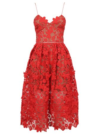 self-portrait 3d Azaelea Lace Midi Dress
