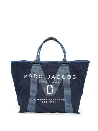 Marc Jacobs New Logo Cotton-denim Tote Bag