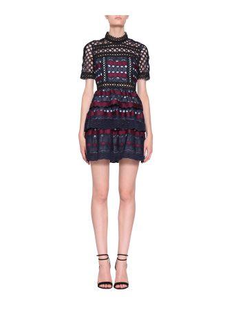 self-portrait Laced Hexagon Dress