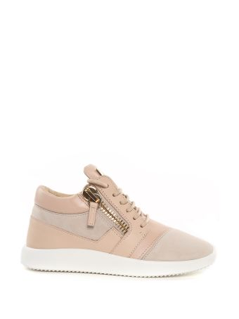 Giuseppe Zanotti Singleg Suede And Leather Sneakers