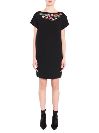 Dress With Embroidered Crystals