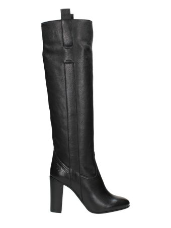 L'Autre Chose Black Leather Boots
