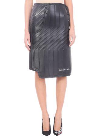 Balenciaga Car Design Leather Skirt