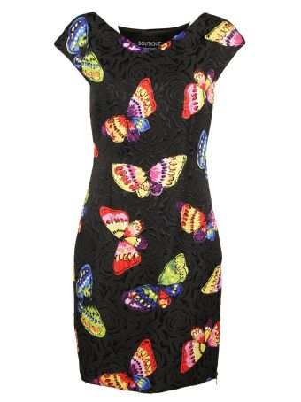 Boutique Moschino Butterfly Print Dress