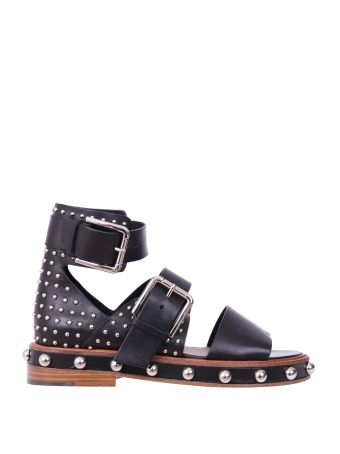 RED Valentino Studded Leather Sandals