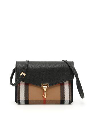 Small Grain Leather And Check Macken Bag
