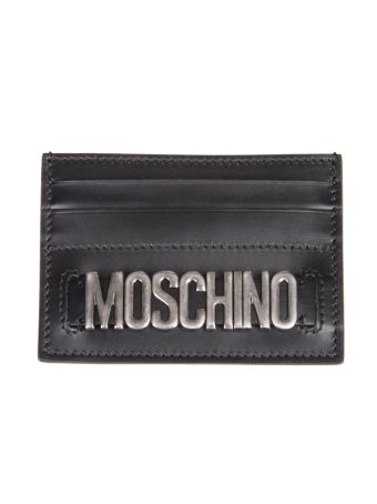 Moschino Logo Plaque Card Holder