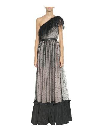 MSGM One-shoulder Lace Dress