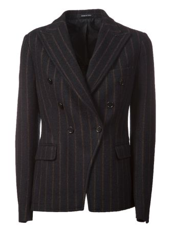 Tagliatore Striped Fitted Blazer