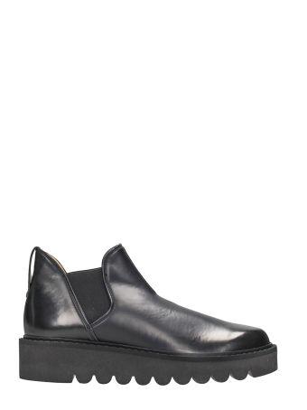 Stella McCartney Black Leather Chelsea Boots Platform