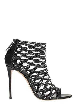 Casadei Zwart Evening Sandals
