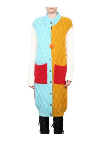 Fausto Puglisi Color Block Wool Cardigan