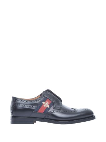 Gucci Men Black Lace-up With Bee