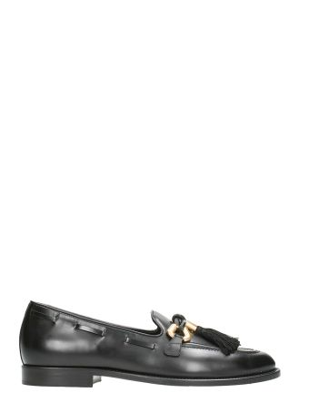 Giuseppe Zanotti Jeans Pierre Leather Black Loafers
