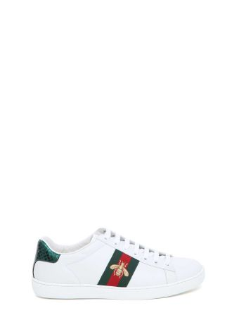 Gucci 'new Ace' Sneaker With Bee Embroideries