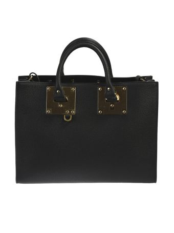 Black Leather Albion Tote
