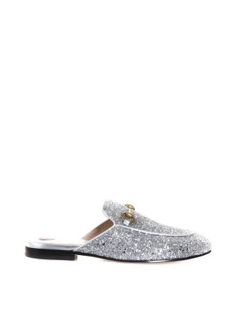 Gucci Princetown Glitter Covered Slippers