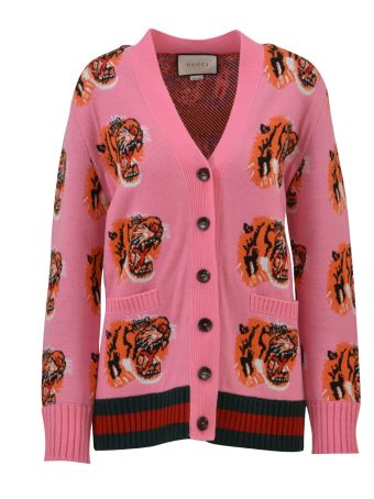 Gucci Cardigan With Tigers