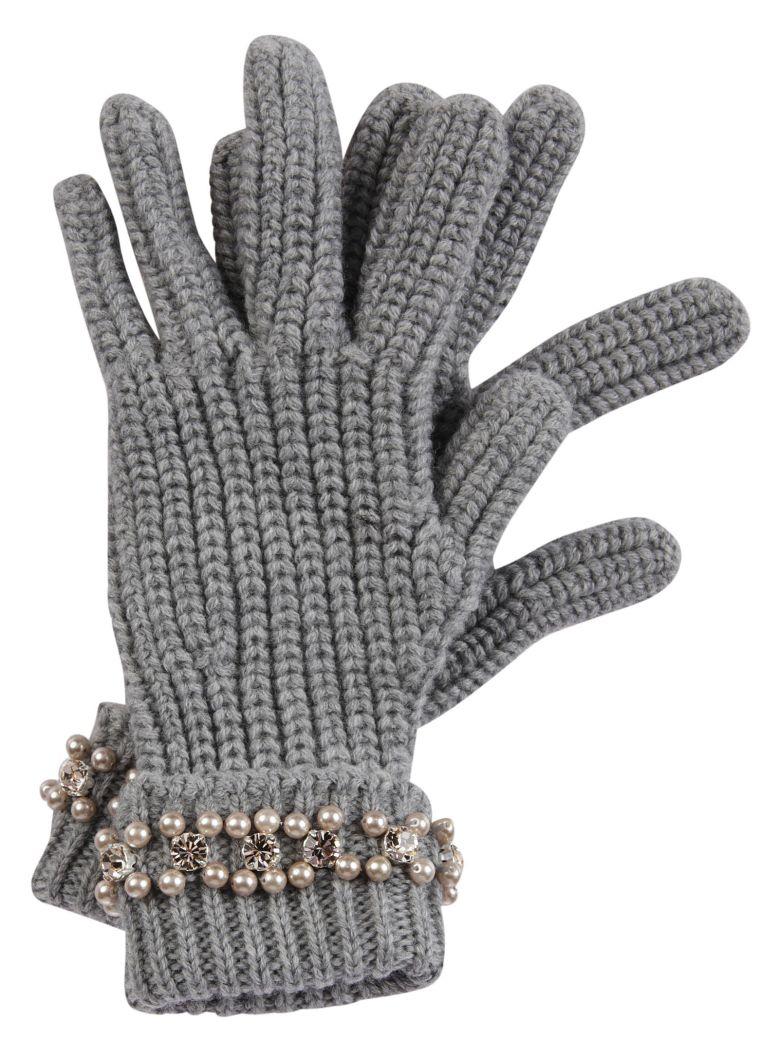 Blugirl Blugirl Pearl Embellished Gloves