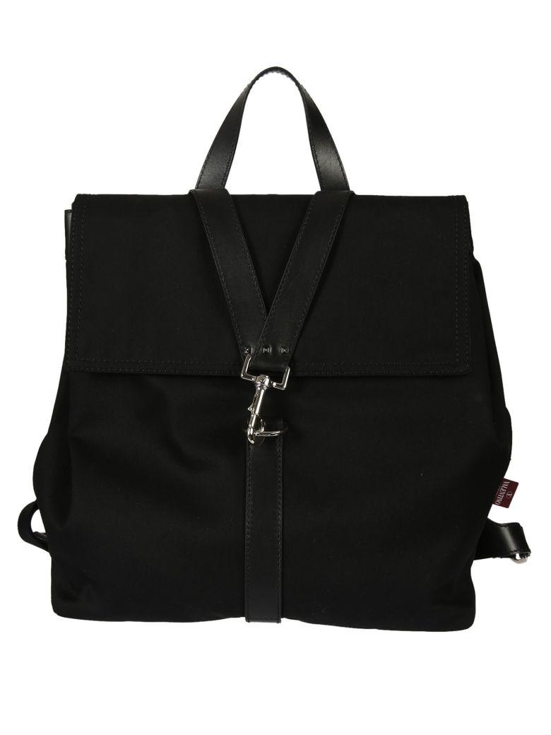 Valentino Leathers Valentino Garavani V-punk Strap Backpack