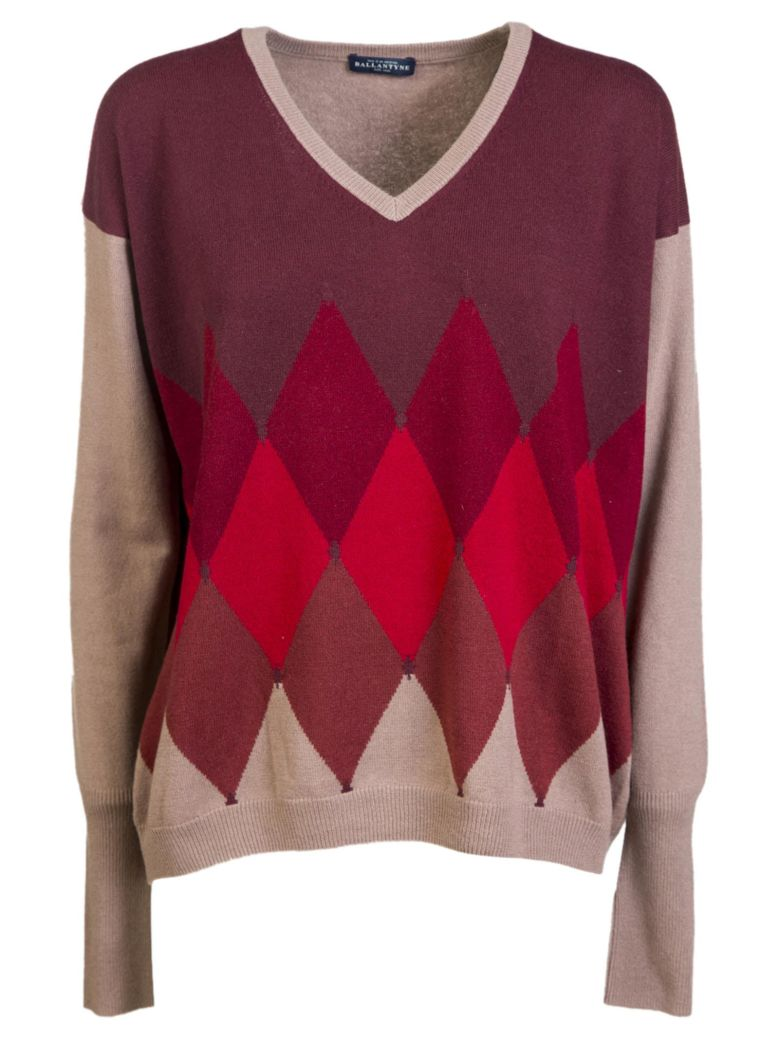 Ballantyne Ballantyne Diamond Patterned Sweater