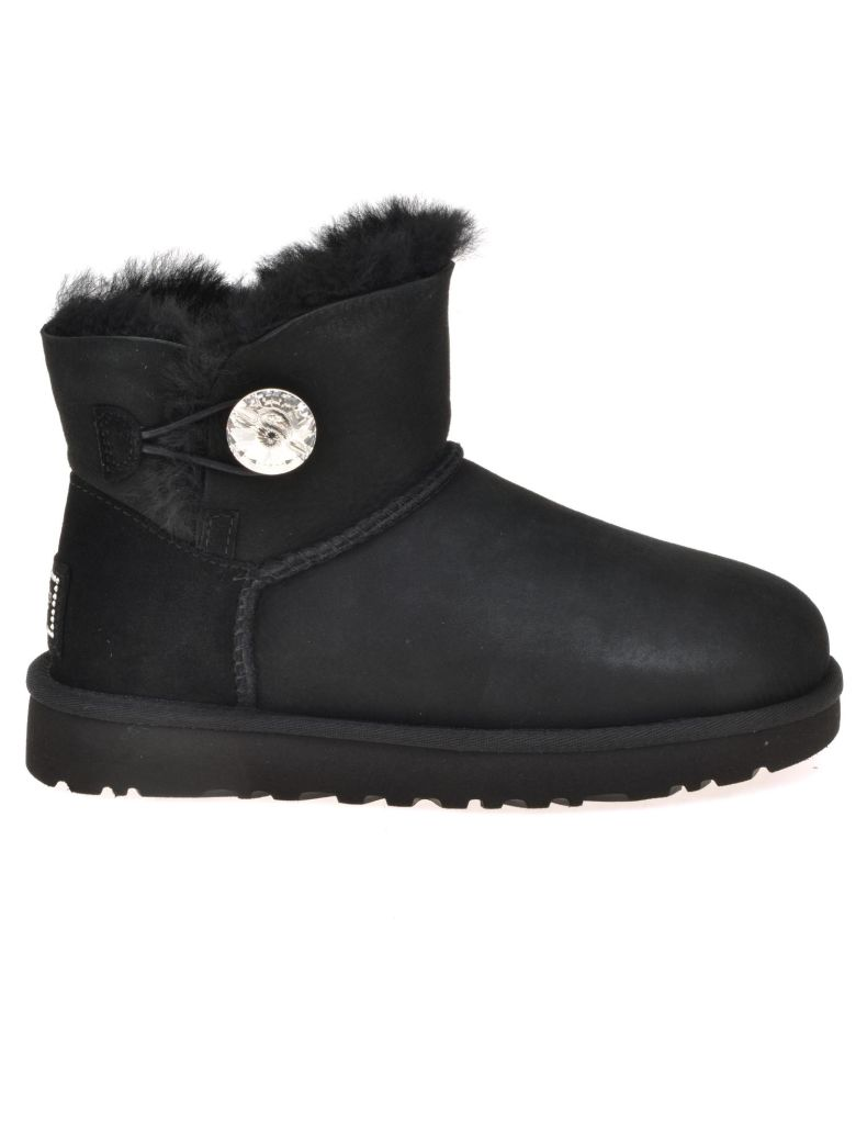 ugg ugg mini bailey button bling black s boots