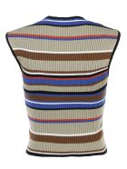 MSGM Striped Bandage Tank Top