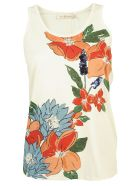 Tory Burch Cotton Embellished Racerback Tank Top