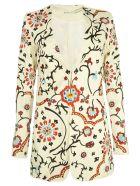 Alice+Olivia Chriselle Embroidered Long Blazer