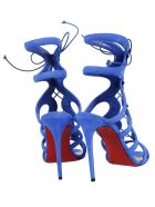 Christian Louboutin Amazoulo 100 Lace-Up Suede Gladiator Sandals