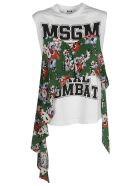 MSGM Ruffled Detail T-shirt