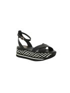 Hogan Patterned Wedge Sandals