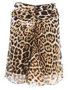 Leopard Georgette Skirt
