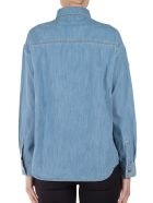 Kenzo Badges Denim Boyfriend Shirt