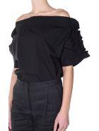 MSGM Off-the-shoulder Ruffled-sleeve Top