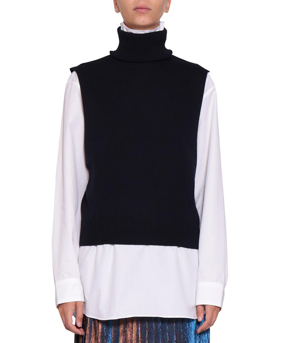 Dries Van Tirze In Blu Noten Wool Modesens Vest wwvfZTq
