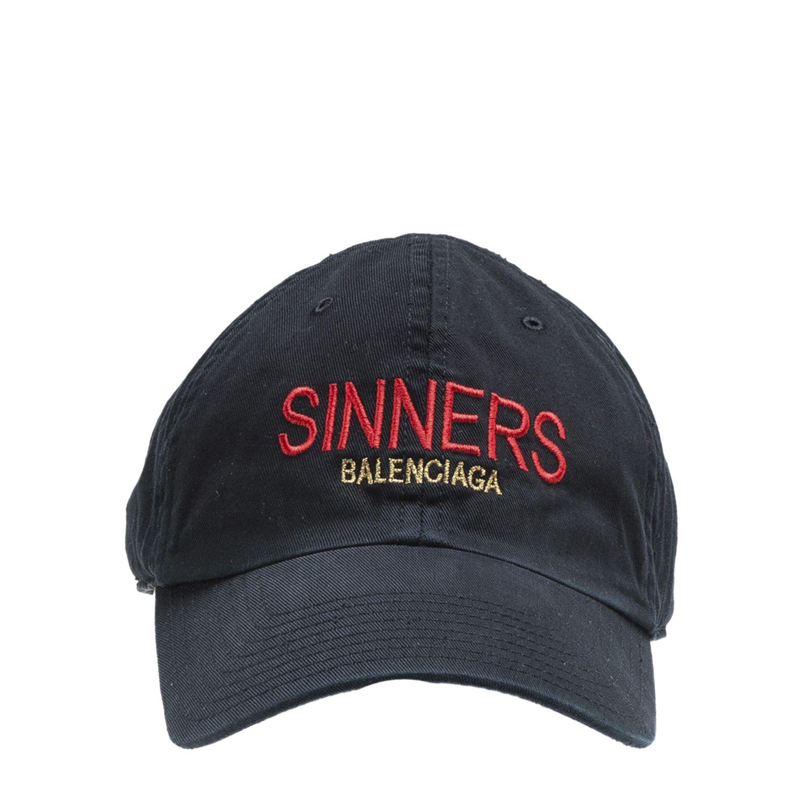 Sinners baseball cap - Black Balenciaga L8aRGW
