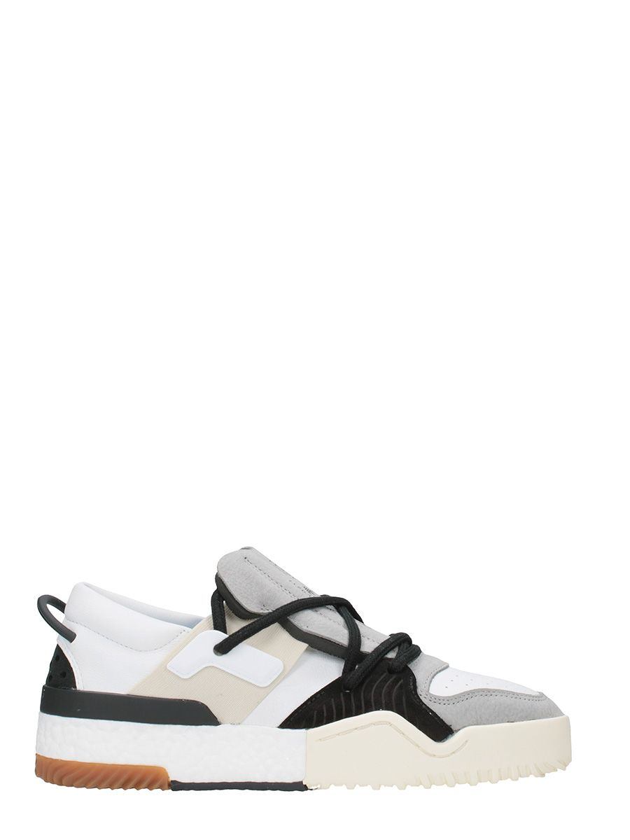 Adidas Original by Alexader Wang Bball Low Leather And Suede White Sneakers