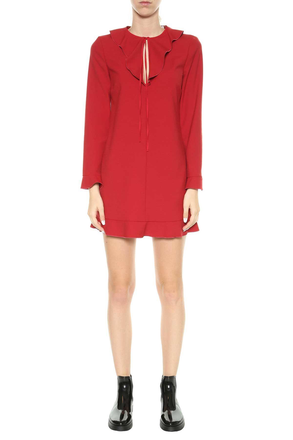 Red Valentino Red Valentino Short Dress With Frills