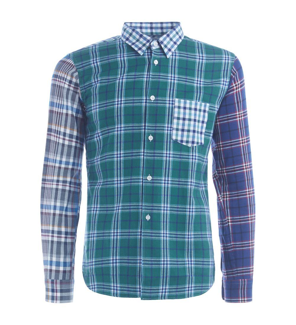 Comme Des Garçons Shirt Boys Multicolor Checked Shirt